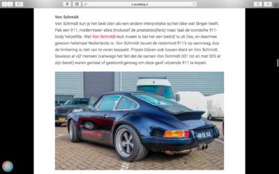 VON SCHMIDT IN DE TOP 9 VAN BEWERKTE 911'S VOLGENS AUTOBLOG.NL